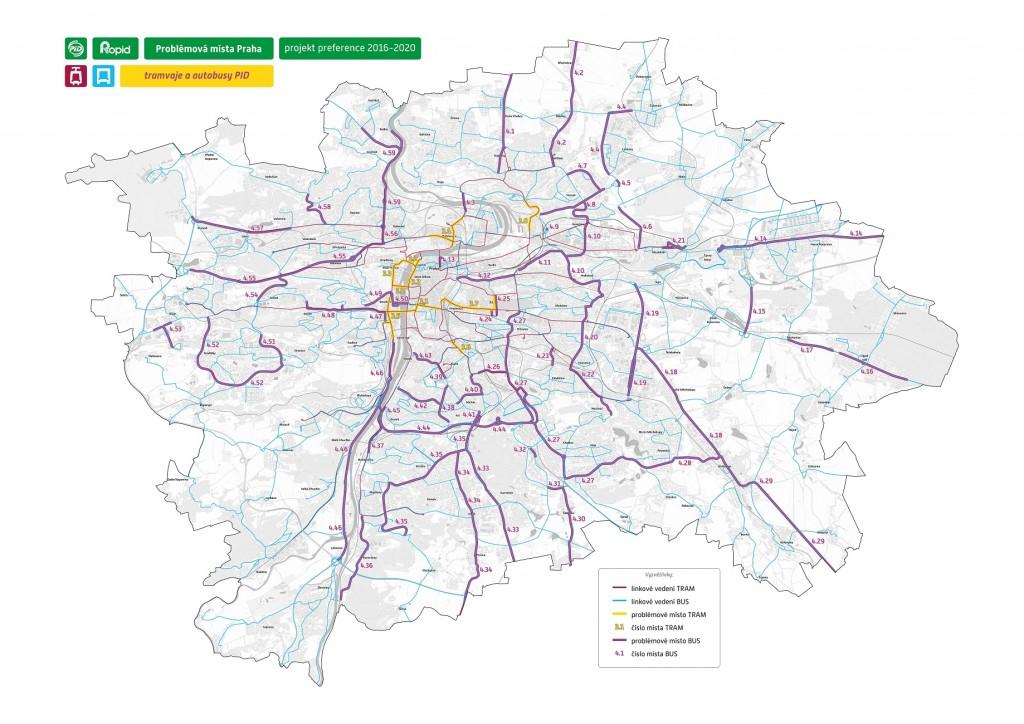Mapa problémových míst k řešení definovaných v projektu