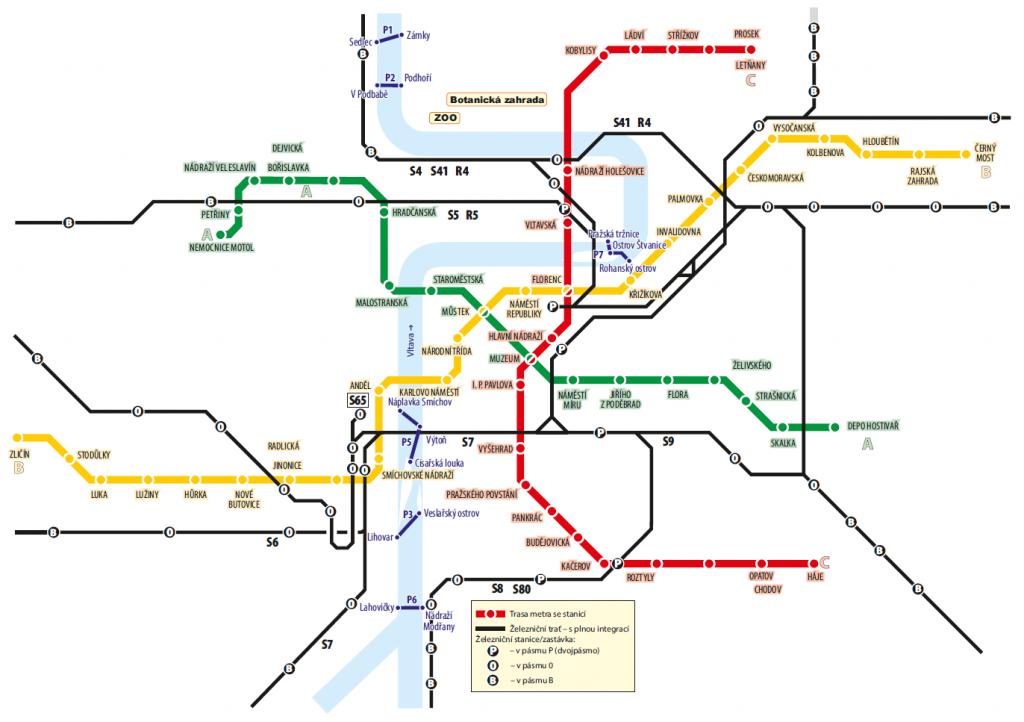 Mapa přívozů