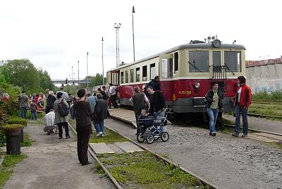 Motoráček na nádraží Praha-Zličín (Praha-Řepy)