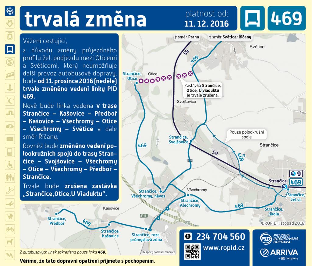 Úprava trasy linky 469