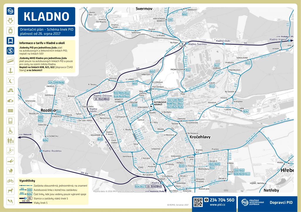 Mapa MHD Kladno