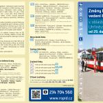 Změny linkové vedení v Uhříněvsi