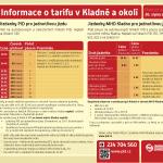 Informace o tarifu v Kladně a okolí