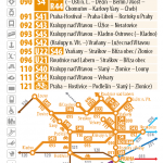 Kartičkový jízdní řád 090 (žlutý) 2016/17