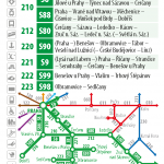 Kartičkový jízdní řád 221 (zelený) 2016/17