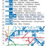 Kartičkový jízdní řád 231 (tmavě modrý) 2016/17
