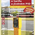 Informace o tarifu a jízdném PID (říjen 2018)