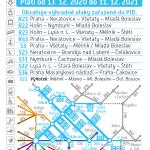 Kartičkový jízdní řád 070 (světle modrý) 2021