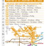 Kartičkový jízdní řád 090 (žlutý) 2021