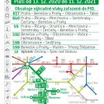Kartičkový jízdní řád 221 (tmavě zelený) 2021