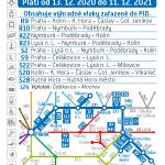 Kartičkový jízdní řád 231 (tmavě modrý) 2021