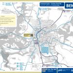 Benešov – linky PID (mapa)