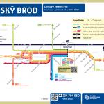 Český Brod – linky PID (schéma)