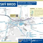 Český Brod – linky PID (mapa)