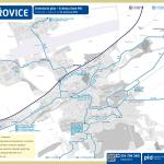 Hořovice – linky PID (mapa)