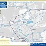 Kladno – linky PID (mapa)