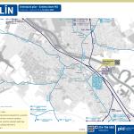Kolín – linky PID (mapa)