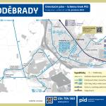 Poděbrady – linky PID (mapa)